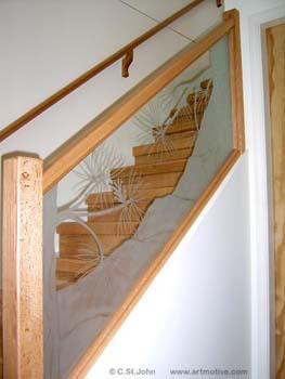Bon Pine Stair Railing